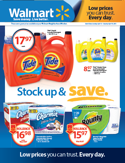 P&G Walmart Stock and Save