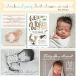 Spring Birth Announcements from Minted