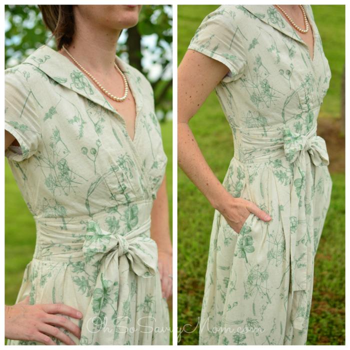 eShakti cotton linen dress front view