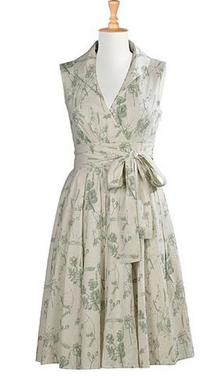 eShakti floral cotton linen dress