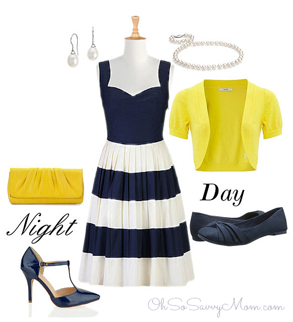 eShakti fifties colorblock dress polyvore