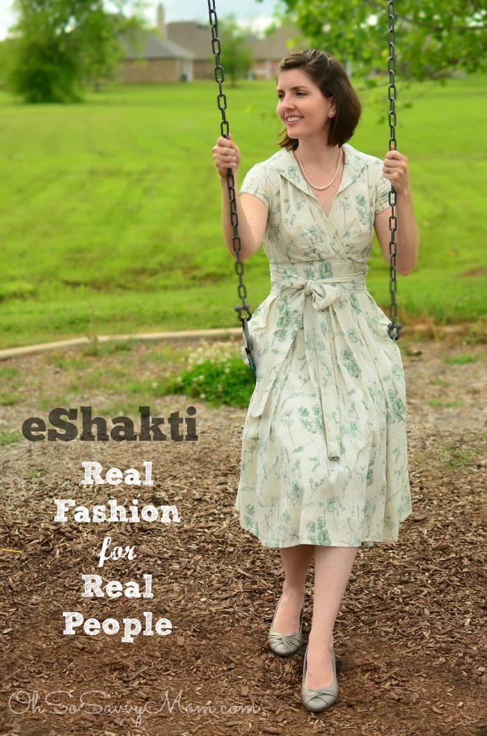 eShakti review Vintage style floral cotton linen dress