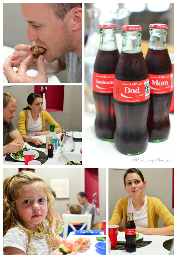 #ShareaCoke dinner with friends