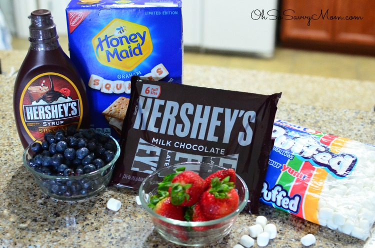 4th of July S'mores Pie Ingredients