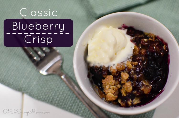 Classic Blueberry Crisp Gluten-free dessert