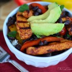 Grilled Chicken Fajita Bowls with Cilantro Lime Rice #PinterestRemakes