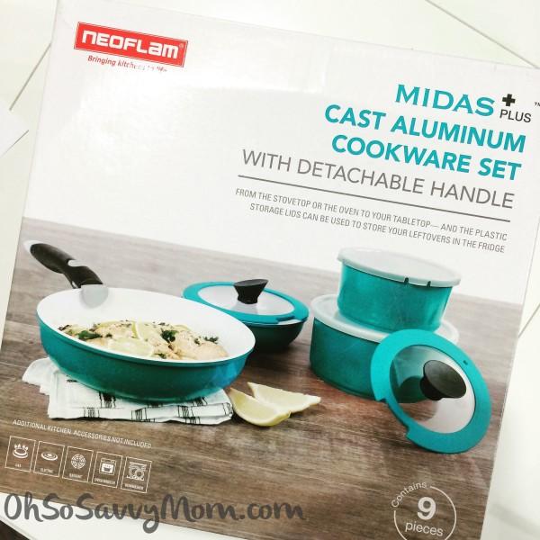 Neoflam MIDAS Plus Cast Aluminum, ceramic coated cookware
