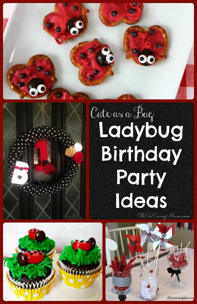 Ladybug Cupcakes Recipe Cute as a Bug Ladybug Birthday Party Ideas