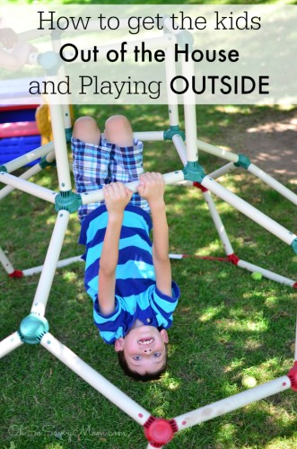 How to Get Kids Out of the House and Playing Outside