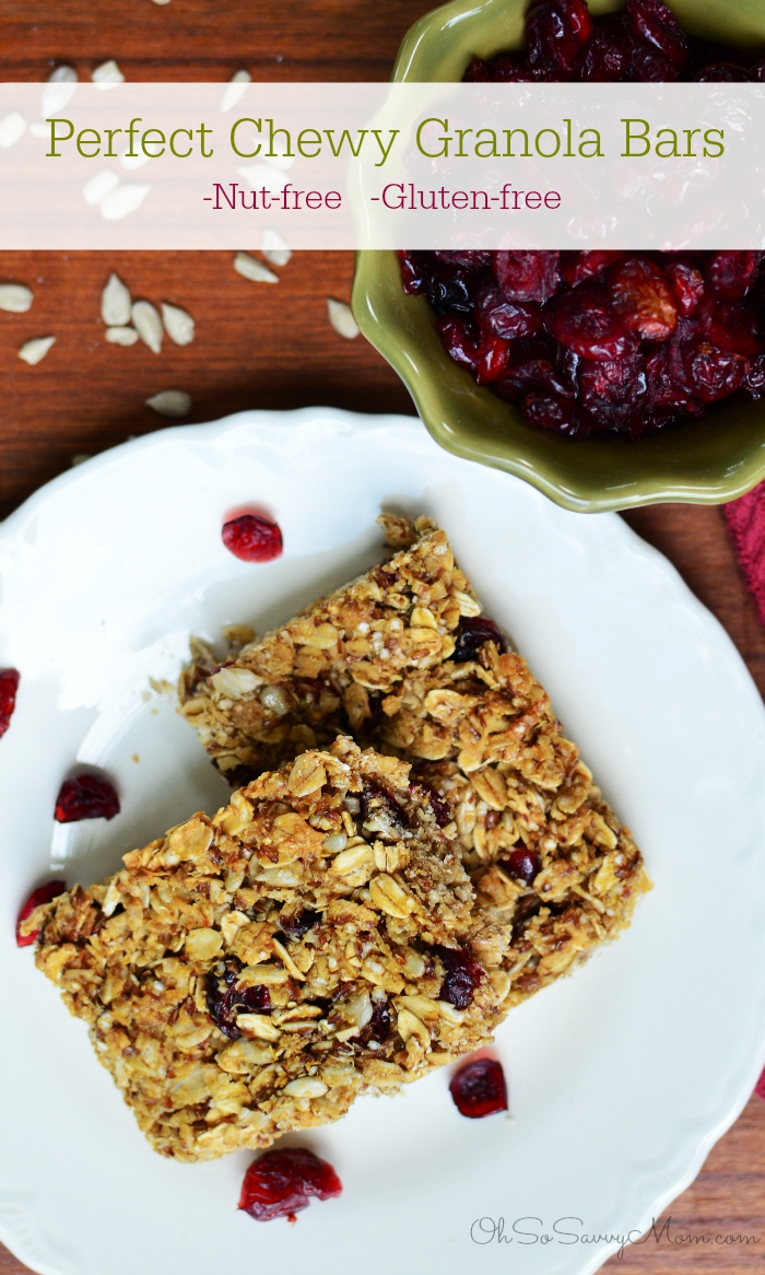 Perfect Chewy Granola Bars