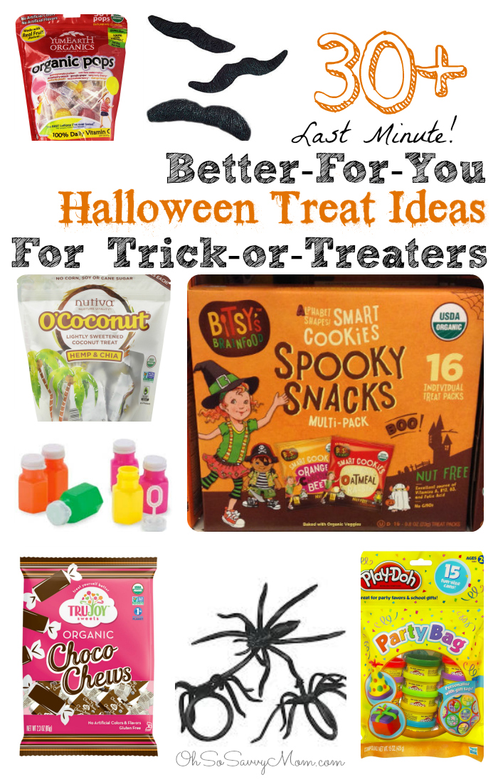 30+ Better-for-You Halloween Treats for Trick-or-Treating! These can all be purchased last minute in stores!