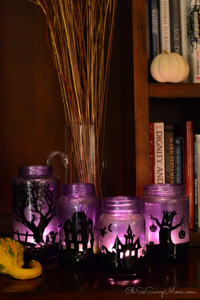 Three easy peasy halloween craft and costume ideas for Making luminaries