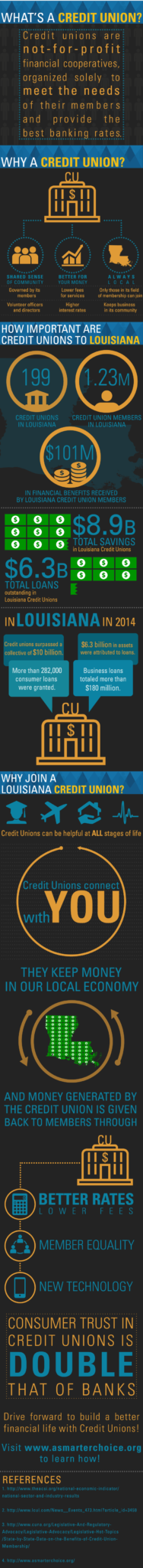 Difference between credit union and bank