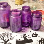 DIY Upcycled Halloween Village Luminaries Craft