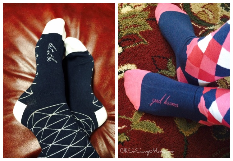 Posie Turner inspirational mantra socks