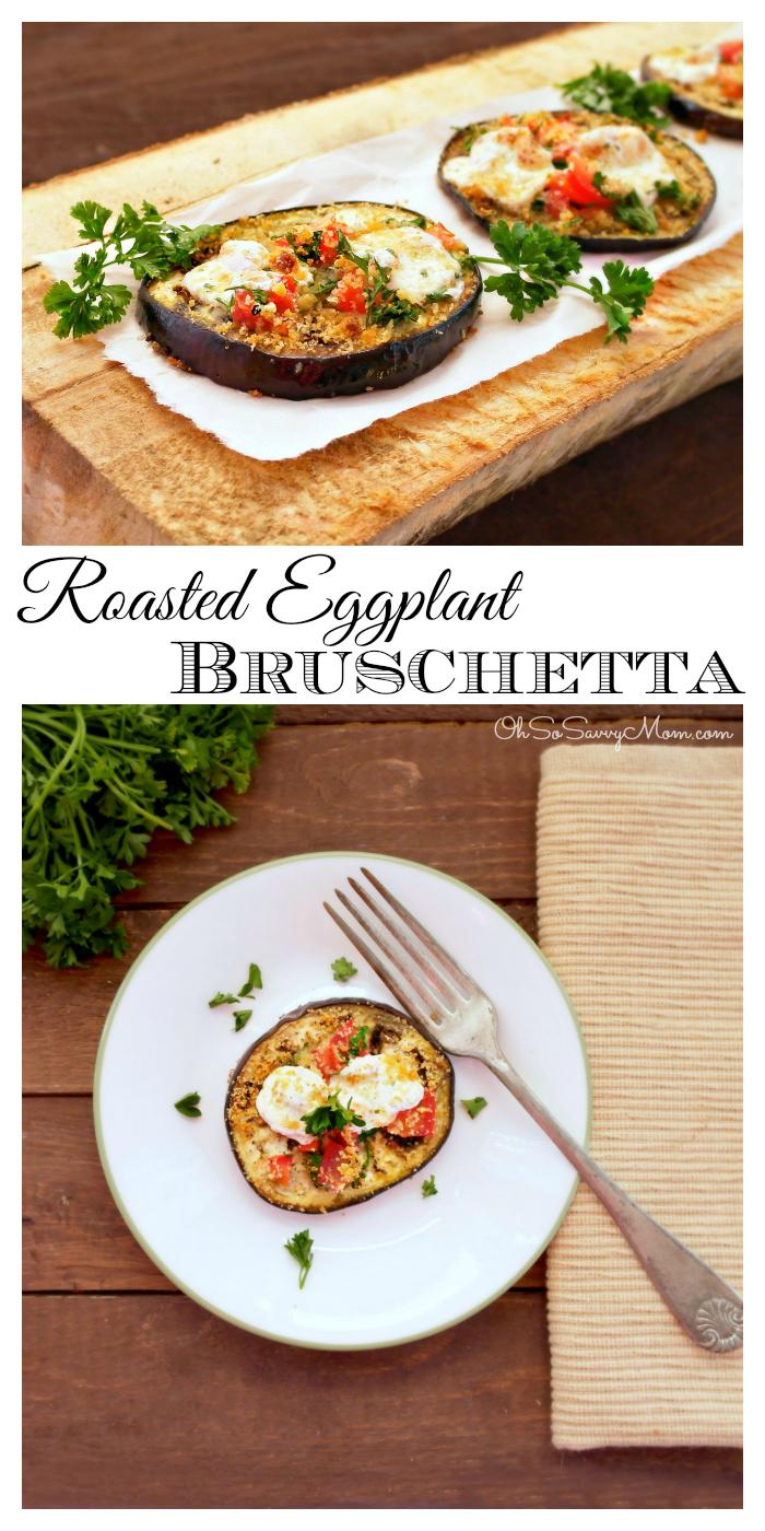 Roasted Eggplant Bruschetta appetizer
