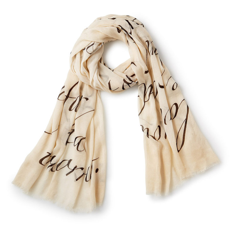 quote on a scarf