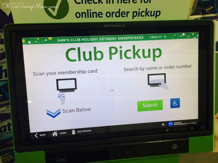 Sam's Club Club Pick up