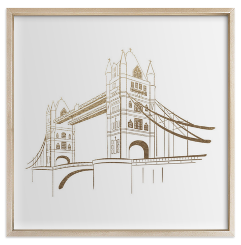 Tower Bridge Foil Print