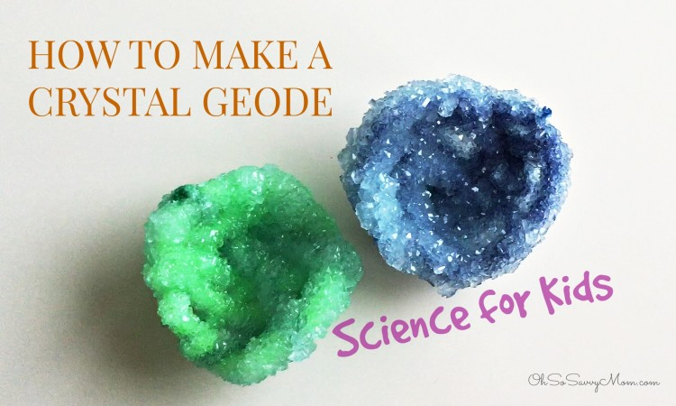 How to make a borax crystal geode