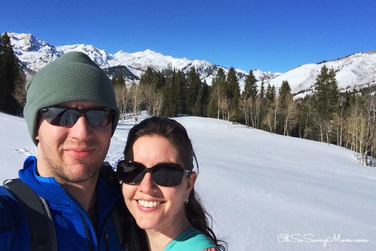 Snowshoeing Tibble Fork in American Fork Canyon
