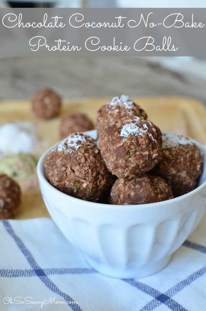Chocolate Coconut No-Bake Protein Cookie Balls