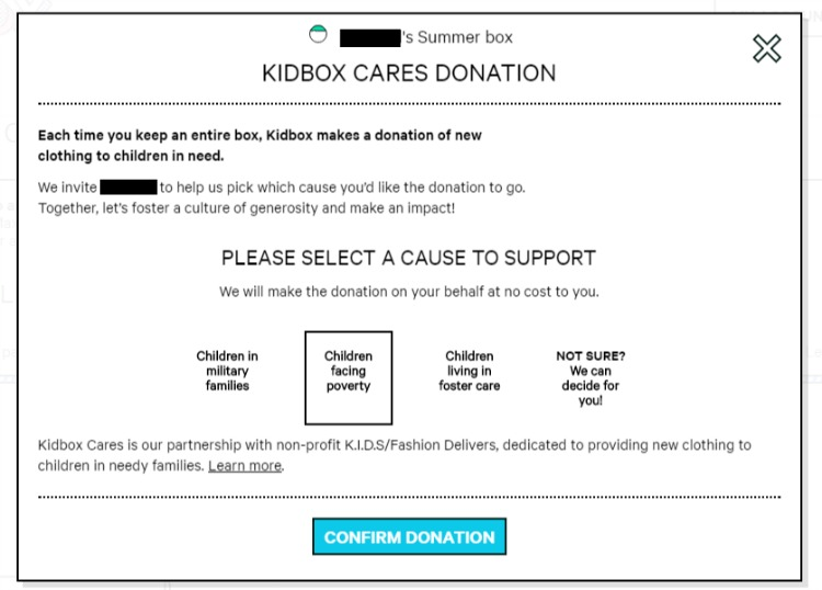 Kidbox Cares Donation