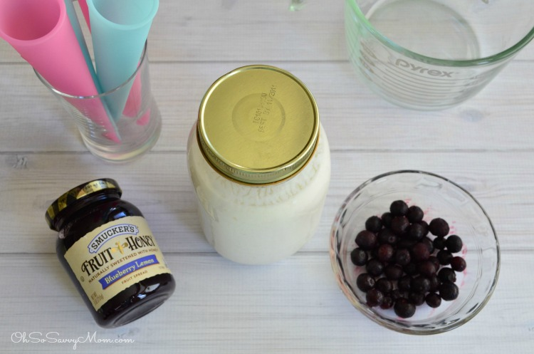 Probiotic Kefir ice pops ingredients