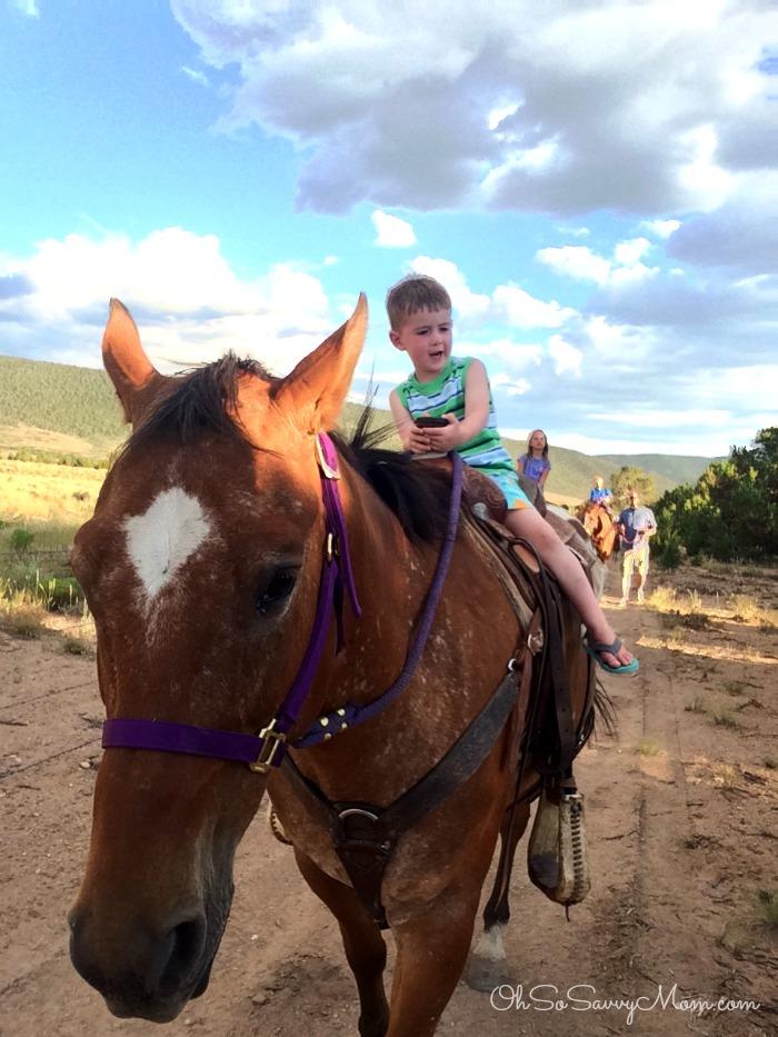 Horseback riding at Beaver Mountain Lodge
