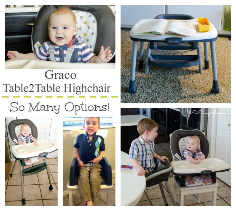 Graco Table2Table Highchair grows with your child from infant to 6 years
