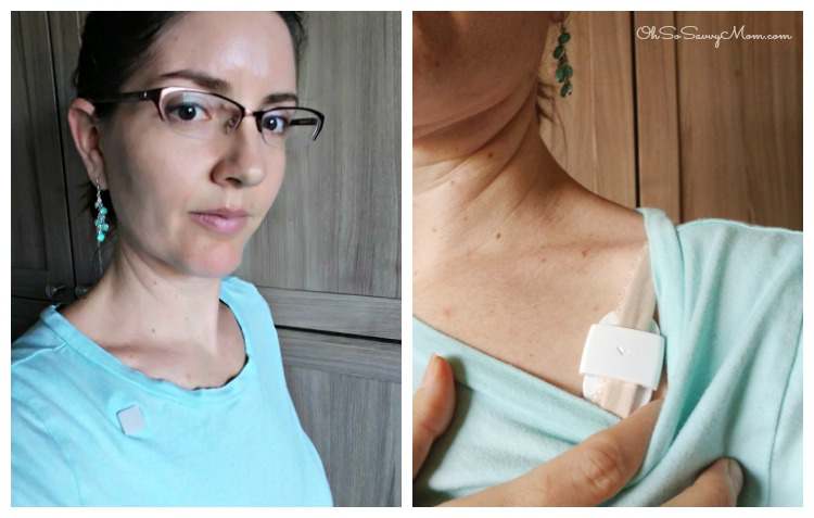 Two ways to wear the Lumo Lift Posture Correcting Device