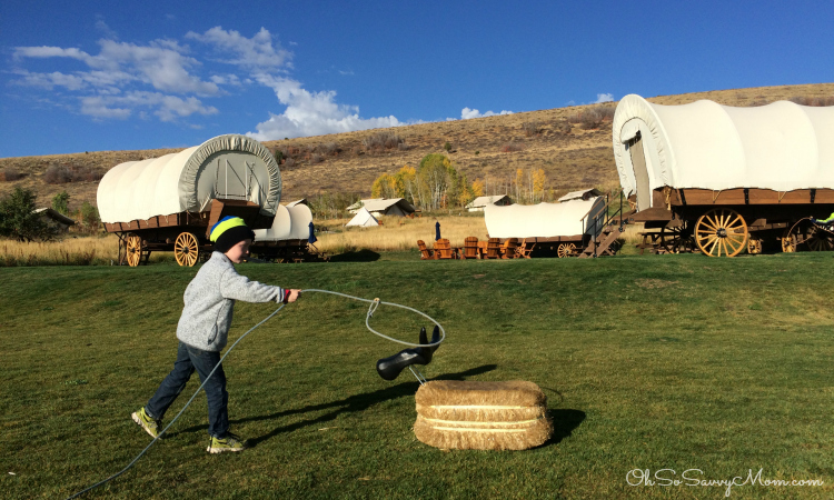 Roping Straw Animals at Conestoga Ranch
