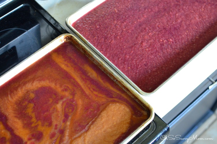 How to make fruit leather - flavor swirl fruit leather