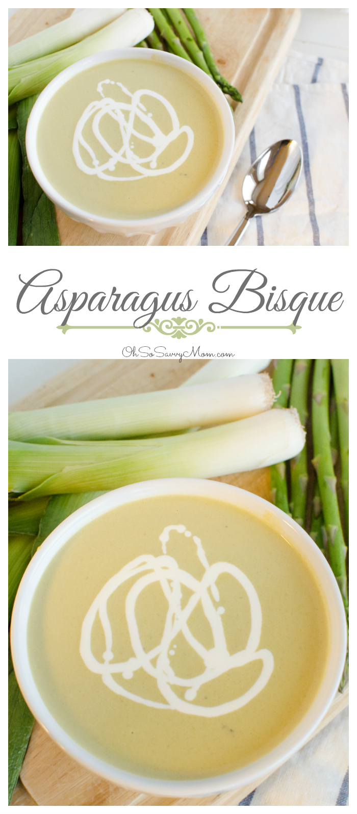 Asparagus Bisque Recipe is perfect when you're in the mood for soup