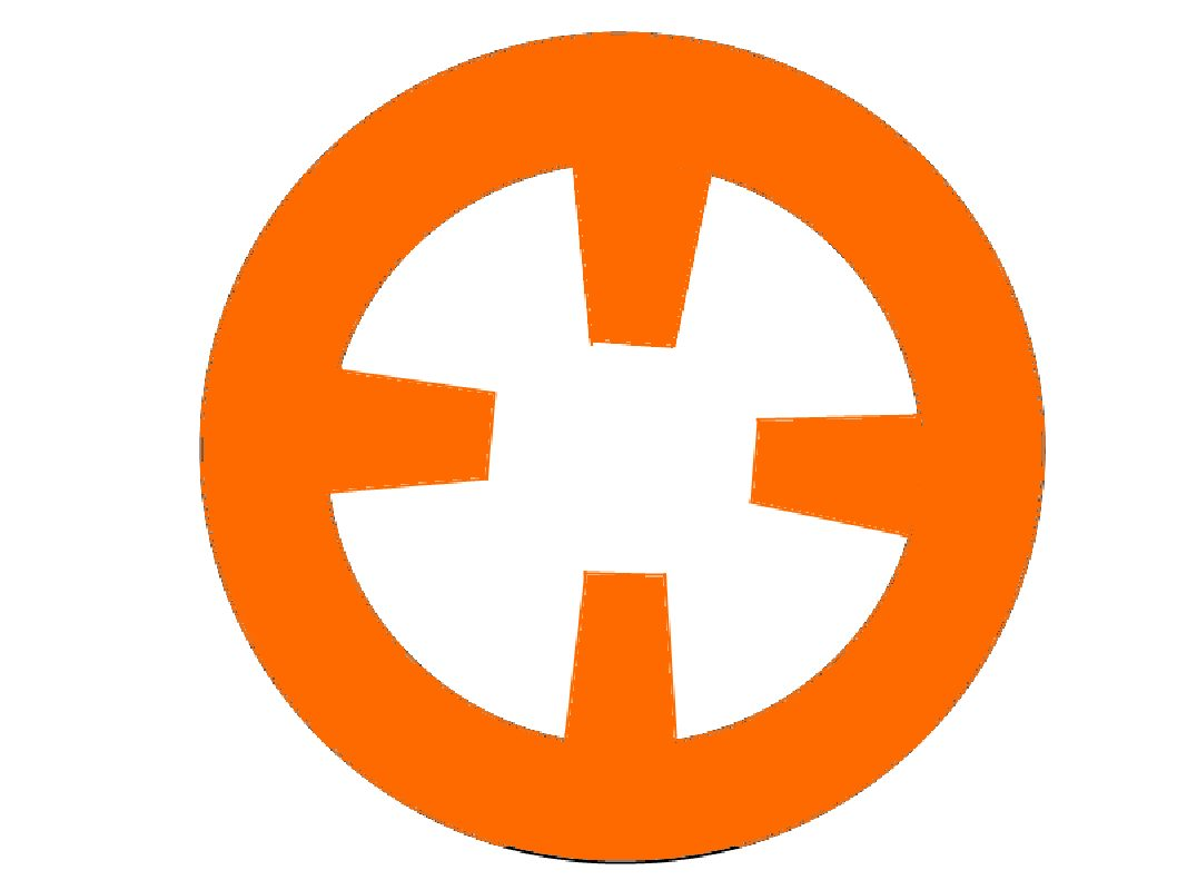 BB-8 orange circle