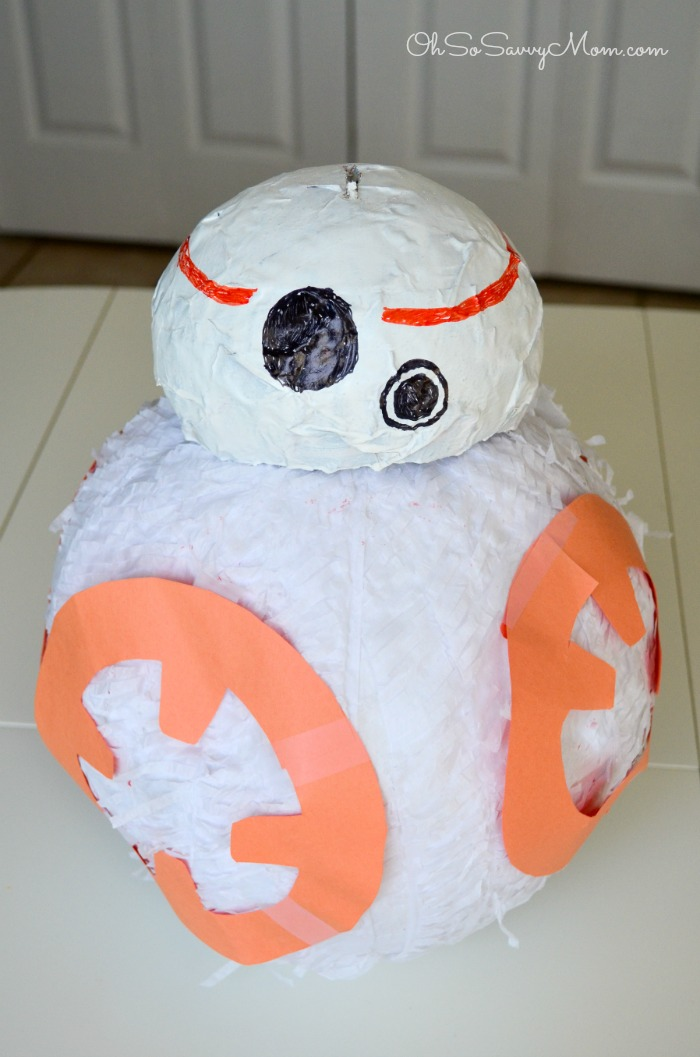 How to make a bb8 pinata