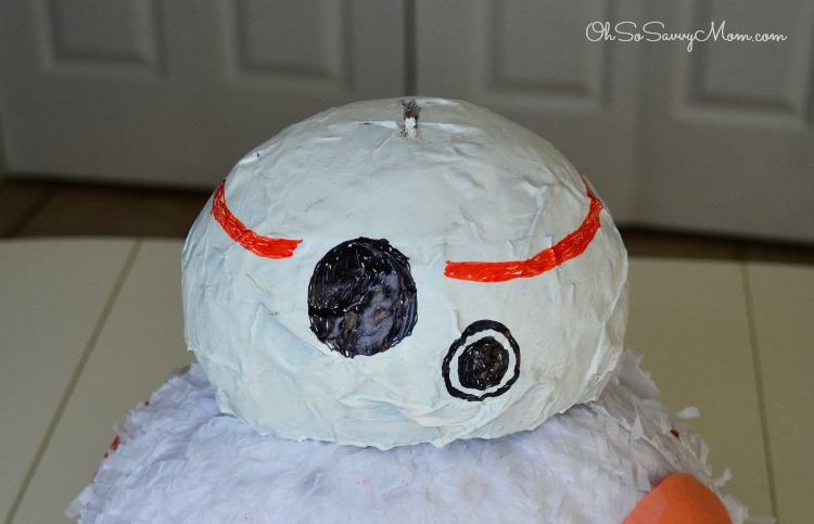 Paper Mache BB8 Head finished