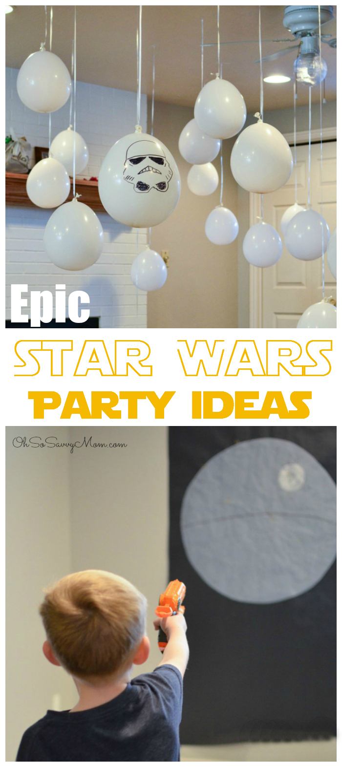 Epic Star Wars Party Ideas to throw the most awesome Star Wars Birthday Party on the cheap!