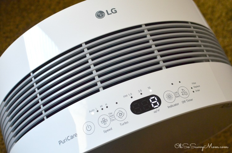 LG PuriCare Air Purifier Settings