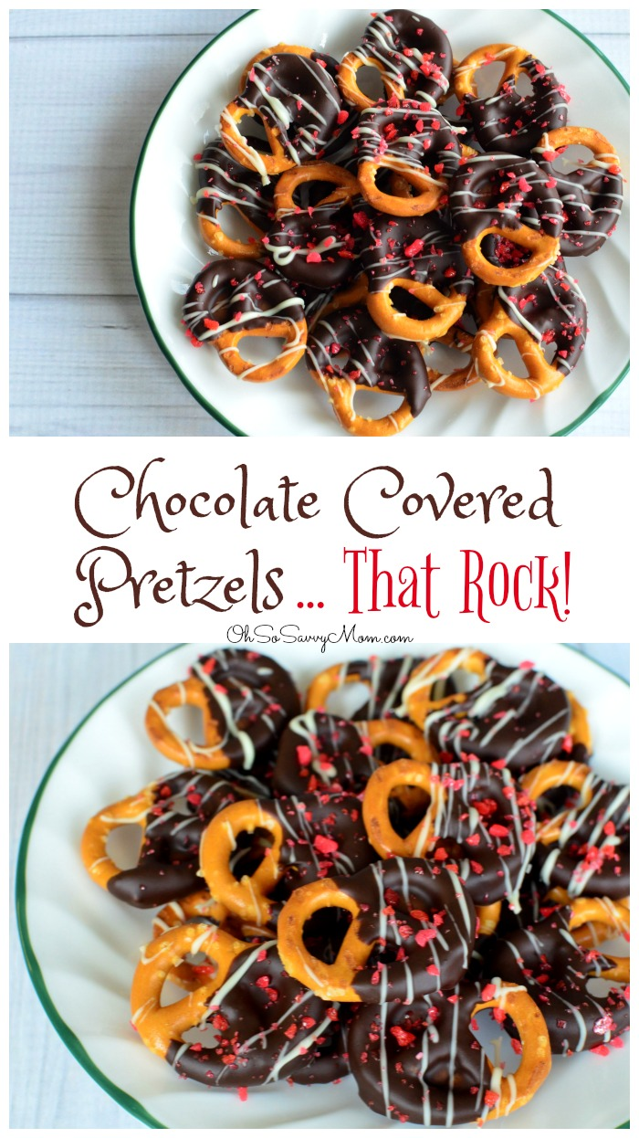 Valentine's Day Pop Rocks Chocolate Covered Pretzels